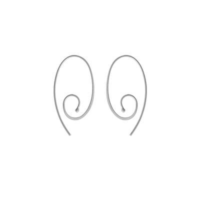 Boma Sterling Silver Oval Swirl Hoops