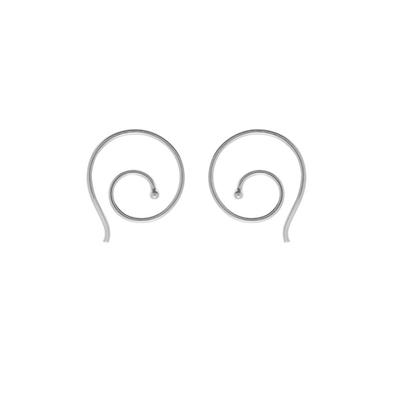 Boma Small Sterling Silver Swirl Hoop
