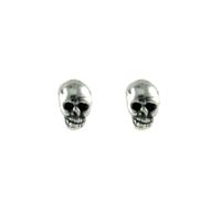 Mimi & Marge Tiny Sterling Silver Skull Studs