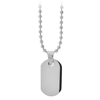Inox Stainless Steel Dog Tag Necklace