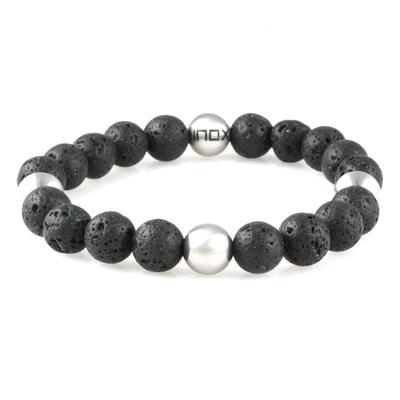 Inox Men's Lava Stone Bracelet
