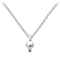Kit Heath Sterling Silver, CZ & Pearl Necklace