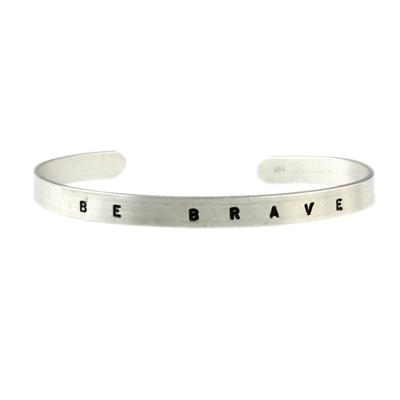 Kelley Reese Sterling Silver Be Brave Cuff