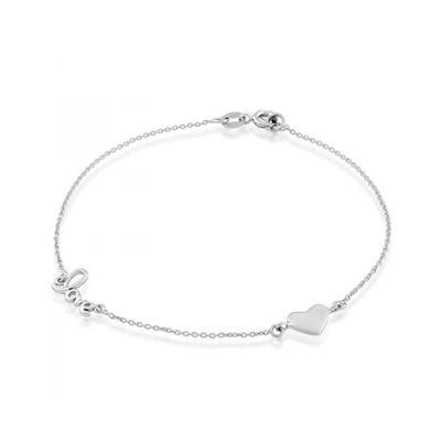 Sterling Silver Heart Love Bracelet