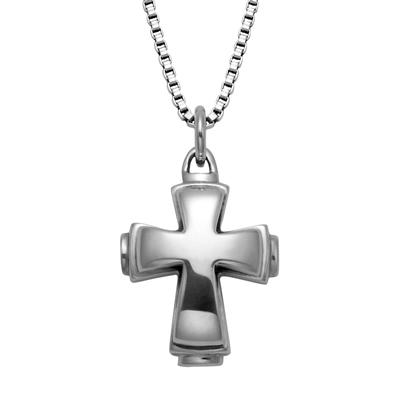 Wts Sterling Silver Layered Cross Necklace