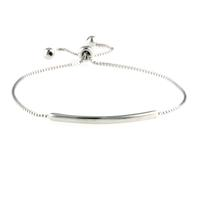Adjustable Sterling Silver Bar Bracelet