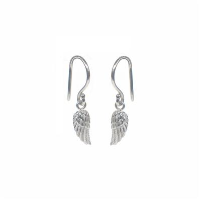 Mimi & Marge Tiny Sterling Silver Wing Earrings