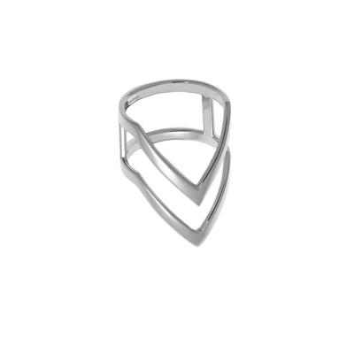 Boma Sterling Silver Double Chevron Ring