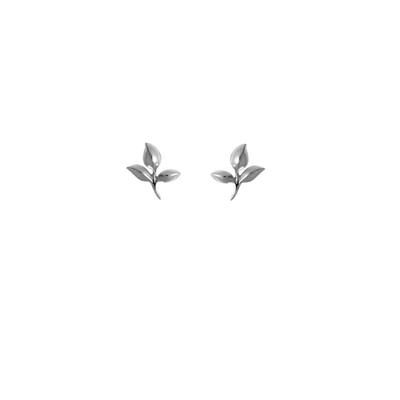 Boma Sterling Silver Woodland Leaf Studs