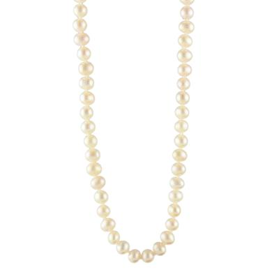 Pink Champagne Pearl Strand Necklace