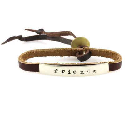 Friends Alpaca Metal Leather Bracelet