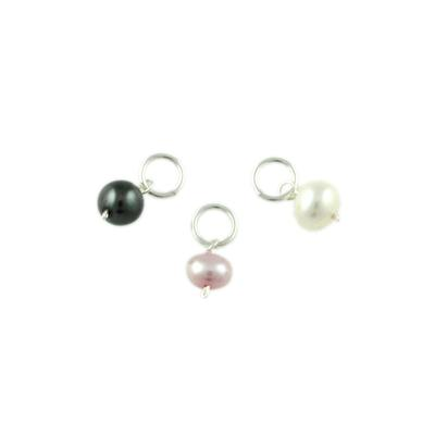 Sterling Silver Pearl Charms