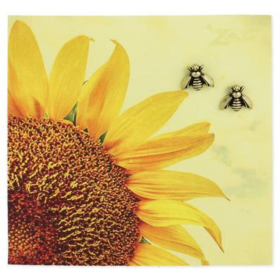Gold Metal Bee Studs