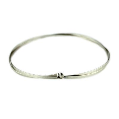 By Boe Sterling Silver Twist Bangle