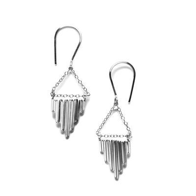 By Boe Sterling Silver Reverse Skyline Earrings