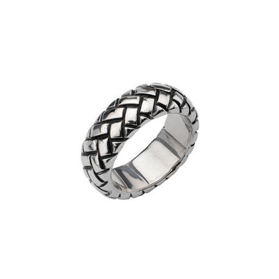 Inox Men's Braided Stainless Steel Ring
