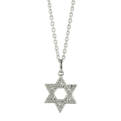 Elsa M Sterling Silver & Diamond Star Of David Necklace