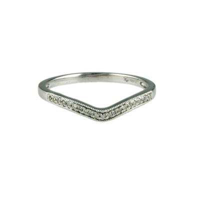 Elsa M Sterling Silver & Diamond Chevron Ring