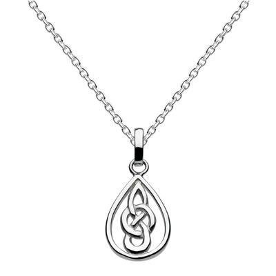 Kit Heath Sterling Silver Celtic Teardrop Necklace