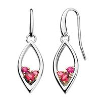 Kit Heath Sterling Silver, Rose Gold, Pink Tourmaline & Rhodalite Earrings