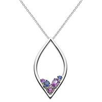 Kit Heath Sterling Silver, Amethyst & Iolite Necklace