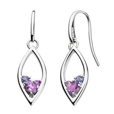 Kit Heath Sterling Silver, Amethyst & Iolite Earrings
