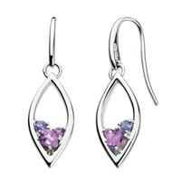 Kit Heath Sterling Silver, Amethyst & Iolite Earrings
