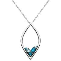 Kit Heath Sterling Silver, London & Sky Blue Topaz Necklace