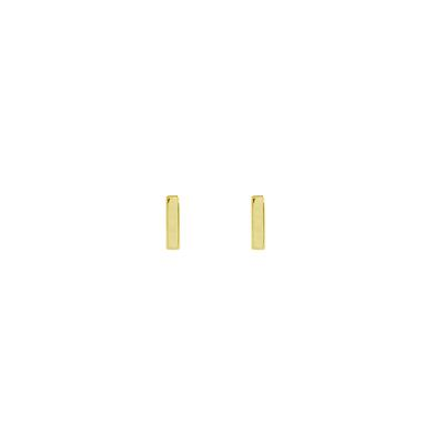 Tiny Gold Plated Sterling Silver Bar Studs