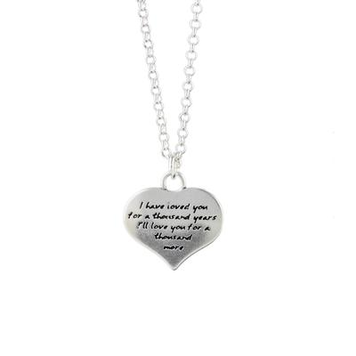 Kevin N Anna Sterling Silver My Love Necklace