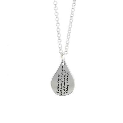 Kevin N Anna Sterling Silver Khalil Gibran Quote Necklace