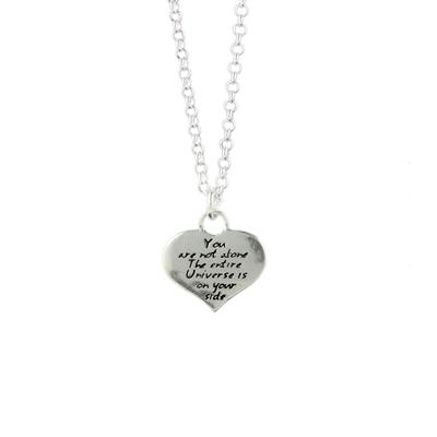 Kevin N Anna Sterling Silver You Are Not Alone - Love Braille Necklace