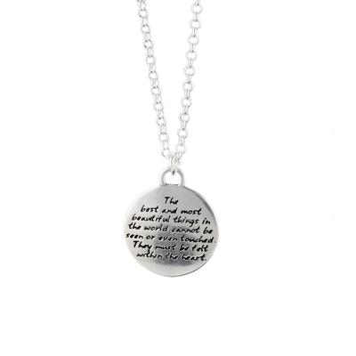 Kevin N Anna Sterling Silver Beautiful Things - Love Braille Necklace