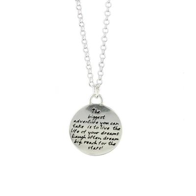 Kevin N Anna Sterling Silver Biggest Adventure - Dream Braille Necklace