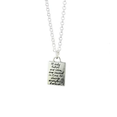 Kevin N Anna Sterling Silver One Idea - Faith Braille Necklace