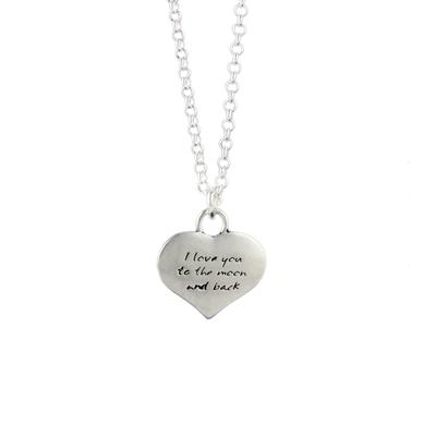 Kevin N Anna Sterling Silver To The Moon - Love Braille Necklace