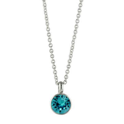 Roberto Martinez Blue Zircon Swarovski Crystal Necklace