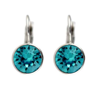 Roberto Martinez Blue Zircon Swarovski Crystal Earrings