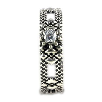 Liquid Metal Nickel Diamond & Crystal Diamond Bracelet