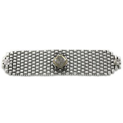 Liquid Metal Nickel Metal Silver Druzy Bracelet