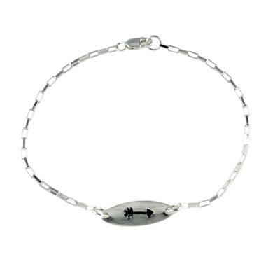 Kelley Reese Sterling Silver Tiny Arrow Bracelet
