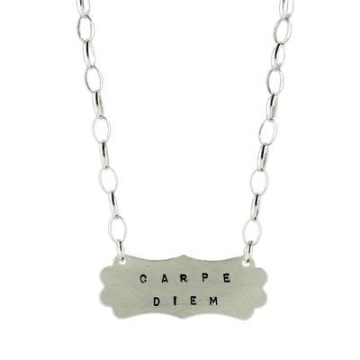 Kelley Reese Sterling Silver Carpe Diem Necklace