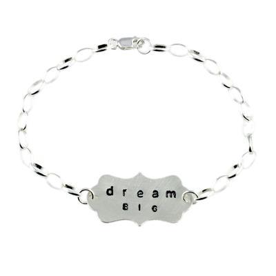 Kelley Reese Sterling Silver Dream Big Bracelet