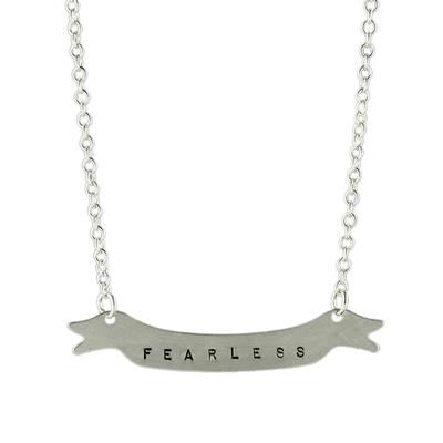 Kelley Reese Sterling Silver Fearless Banner Necklace