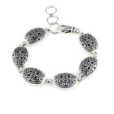 Indiri Sterling Silver Bali Filigree Bracelet