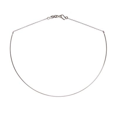 By Boe Sterling Silver Simple Line Collar Necklace