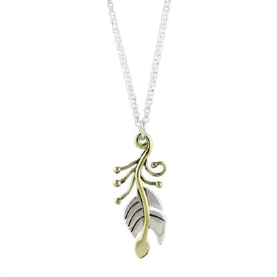Far Fetched Sterling Silver Feather Necklace