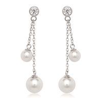 Sterling Silver, CZ & Shell Pearl Earrings