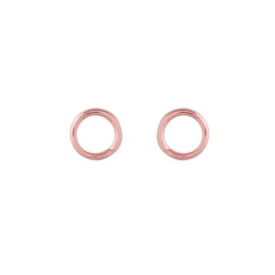 Rose Gold Plated Sterling Silver Open Circle Studs