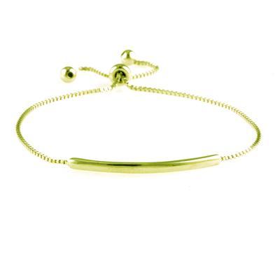 Adjustable Gold Plated Sterling Silver Bar Bracelet